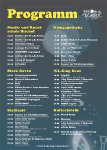 Programm Fête de la Musique